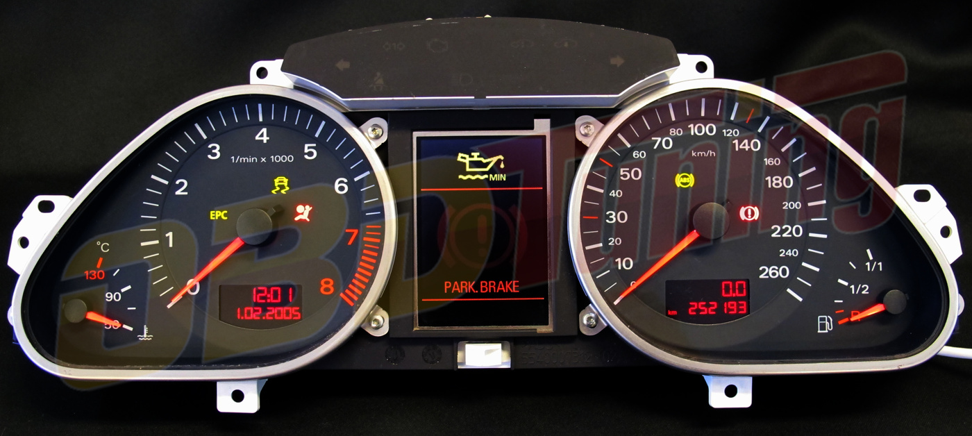Kombiinstrument Audi A6 Pixelfel/display död, Bosch